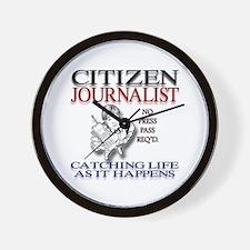 Citizen Journalist Wall Clock