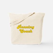Retro Running Coach (Gold) Tote Bag