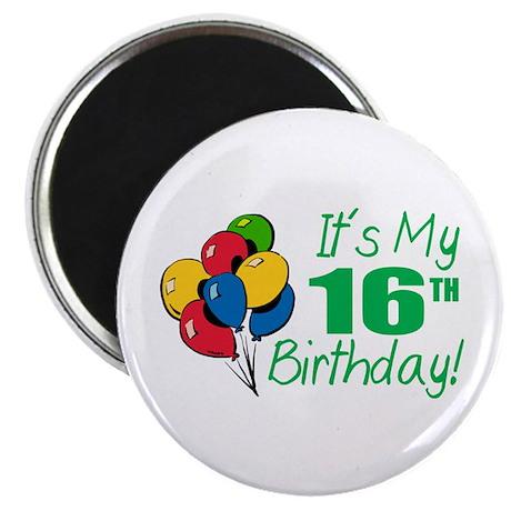 "It's My 16th Birthday (Balloons) 2.25"" Magnet (100"