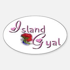 Island Gyal - Oval Decal