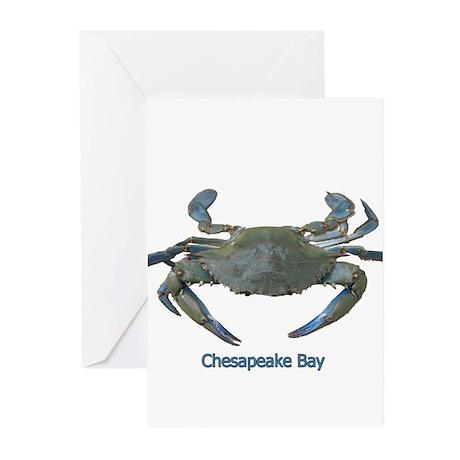 Chesapeake Bay Blue Crab Greeting Cards (Pk of 10)