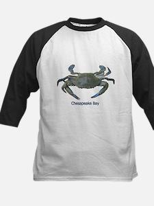Chesapeake Bay Blue Crab Kids Baseball Jersey