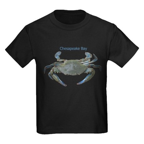 Chesapeake Bay Blue Crab Kids Dark T-Shirt