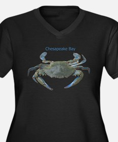 Chesapeake Bay Blue Crab Women's Plus Size V-Neck