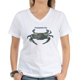 Blue crab Womens V-Neck T-shirts