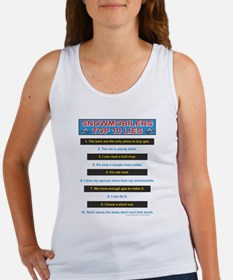 Top Ten Lies Snowmobilers use Women's Tank Top