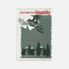 I don't Suffer from Insanity - Snowmobile Rectangl