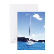 Sailing in the USVI - Greeting Cards (Package of