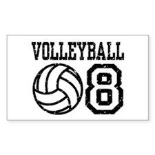 Volleyball 08 Rectangle Decal