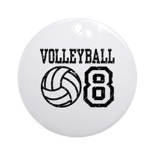 Volleyball 08 Ornament (Round)