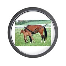 Swedish Warmblood Filly and Dam Wall Clock