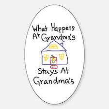 Grandma's House Sticker (Oval)