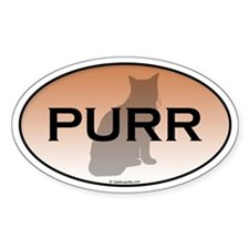 Cat Purr Oval Decal