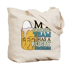 Rugby Drinking Team Tote Bag