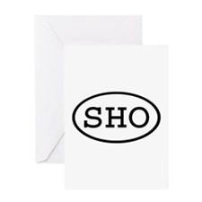 SHO Oval Greeting Card