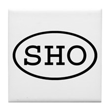 SHO Oval Tile Coaster