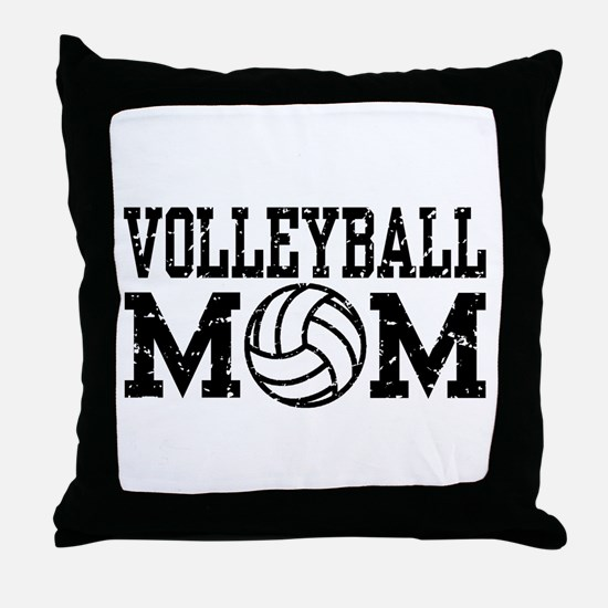 Volleyball Mom Throw Pillow