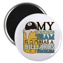 "Billiards Drinking Team 2.25"" Magnet (10 pack)"