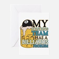 Billiards Drinking Team Greeting Cards (Pk of 20)