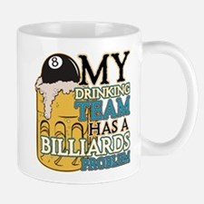 Billiards Drinking Team Mug