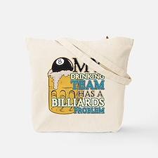Billiards Drinking Team Tote Bag