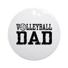 Volleyball Dad Ornament (Round)