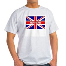 No Fear Union Jack Ash Grey T-Shirt