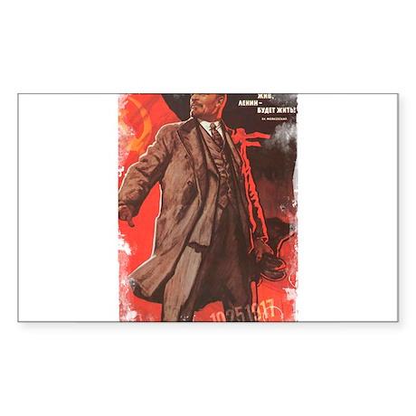 Lenin Lives Rectangle Sticker
