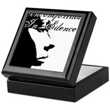 Uncomfortable In Silence Keepsake Box