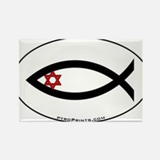 Star of David Fish Rectangle Magnet