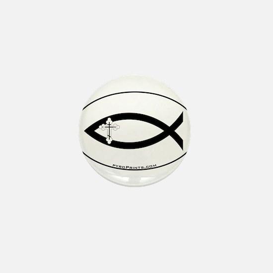 Russian Orthodox Cross Fish Mini Button
