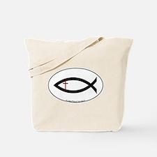 Small Cross Fish Tote Bag