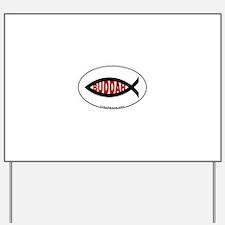 Buddah Fish Yard Sign