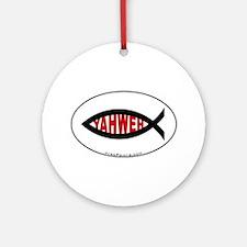 Yahweh Fish Ornament (Round)
