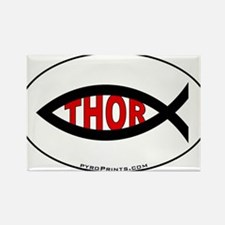 Thor Fish Rectangle Magnet