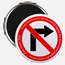 No Right Turn/Stupid Conservatives Magnet