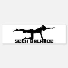 Seek Balance Bumper Bumper Bumper Sticker