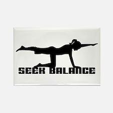 Seek Balance Rectangle Magnet