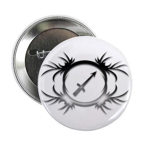 """Sagittarius Silver 2 2.25"""" Button"""