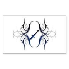 Sagittarius Blue 1 Rectangle Bumper Stickers
