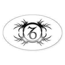 Capricorn Silver 2 Oval Bumper Stickers