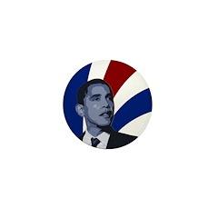 Patriotic Obama for President Mini Button