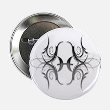 "Pisces Silver 1 2.25"" Button"