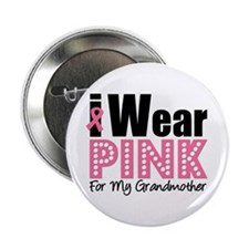 "I Wear Pink Grandmother 2.25"" Button"