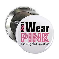 "I Wear Pink Grandmother 2.25"" Button"