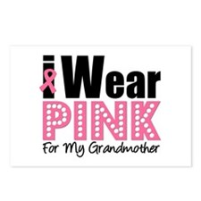 I Wear Pink Grandmother Postcards (Package of 8)