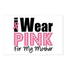 I Wear Pink Mother Postcards (Package of 8)
