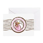 Precious Contents Stamp Pink Greeting Card