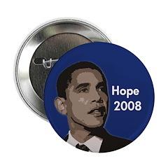 "Obama: Hope 2008 2.25"" Button"