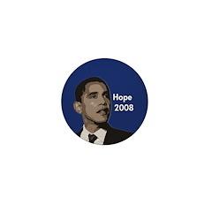 Obama: Hope 2008 Mini Button